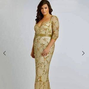 Mac Duggal Light Gold Gown